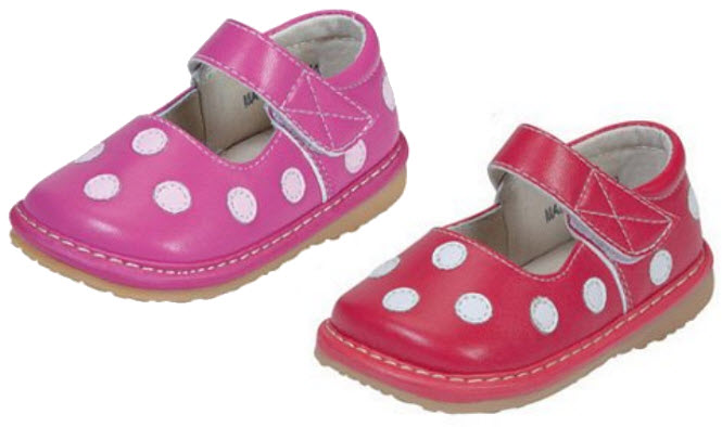 Polka dot shoes for toddlers