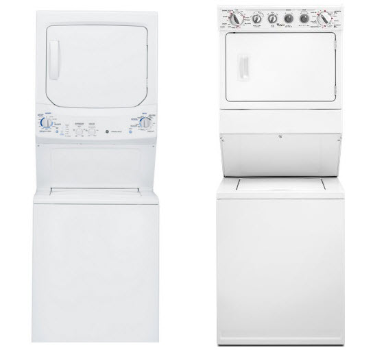 Stacked gas washer and dryer - 2