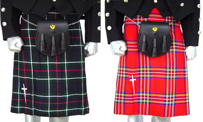 Traditional Scottish kilts for men