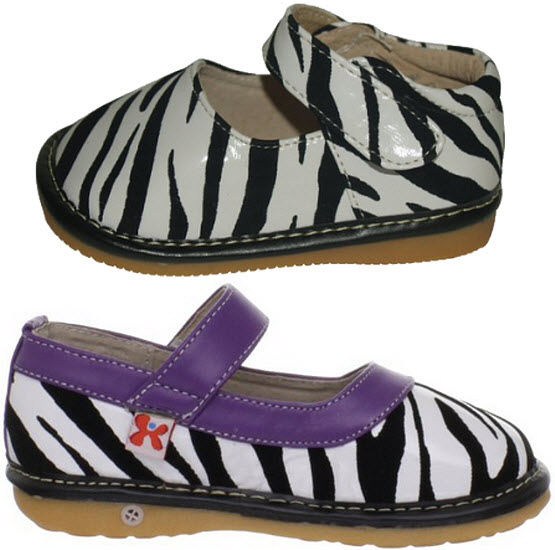 Zebra print shoes for toddlers