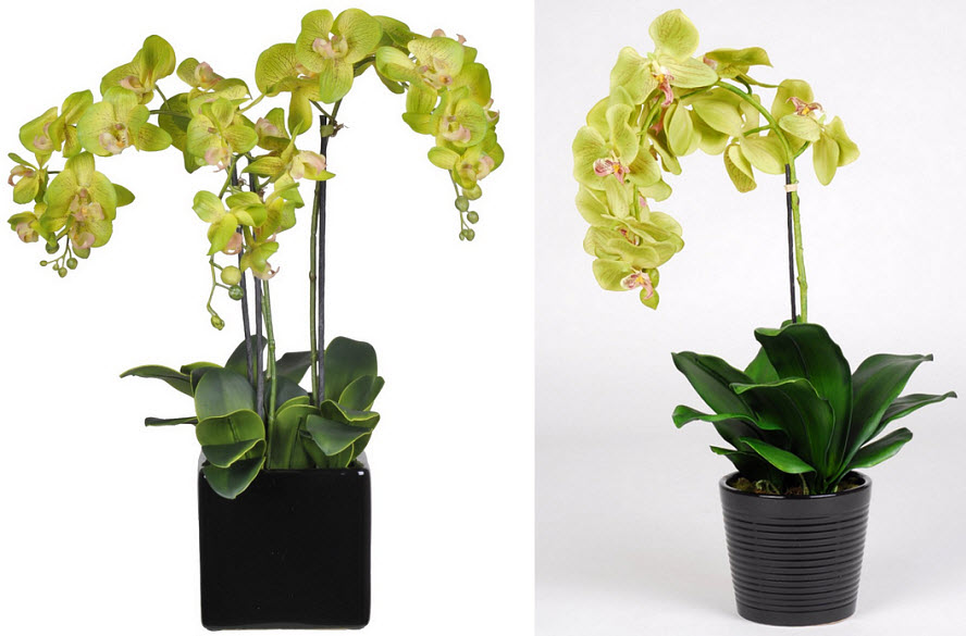 Lime green artificial flowers
