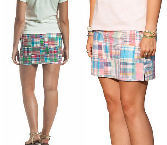 Patchwork madras skirts