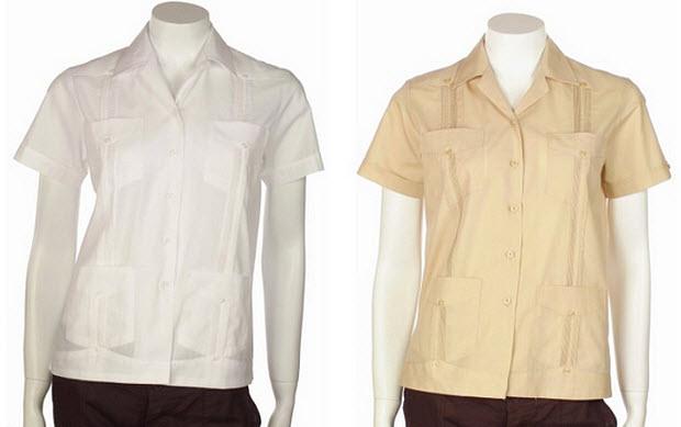 Guayabera shirts for women