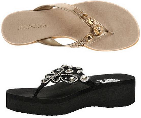 flip flops with jewels