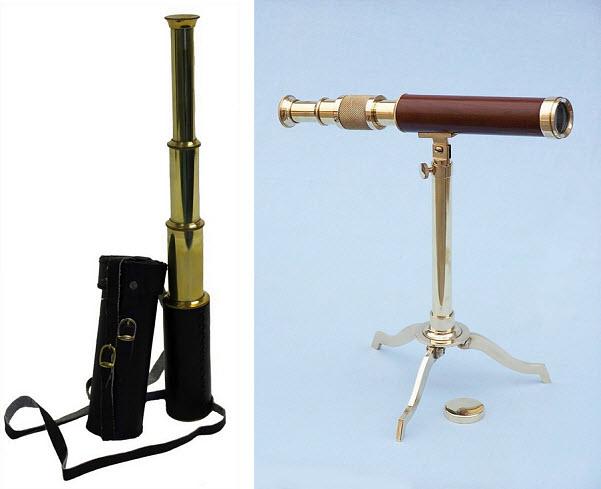 Small brass telescope