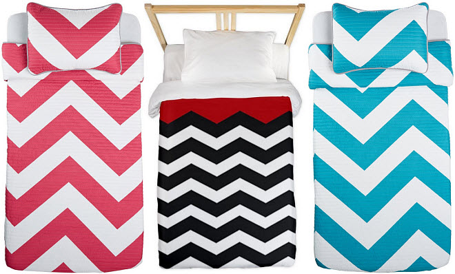 chevron twin bedding
