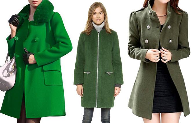 womens green wool coat