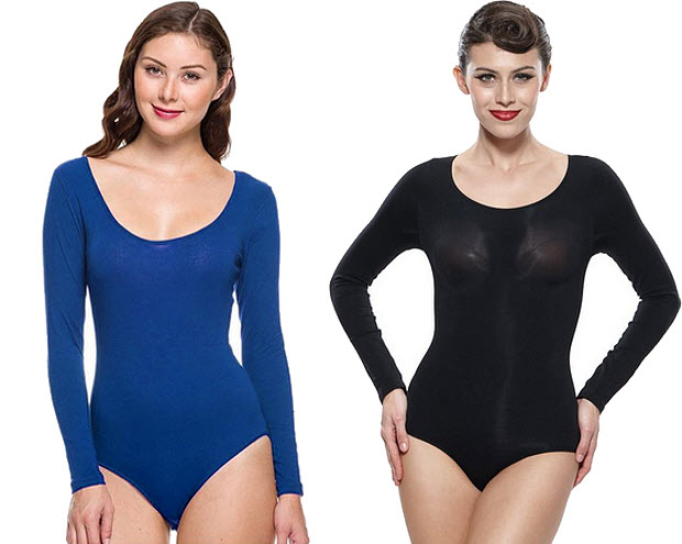 Long sleeve one piece bodysuit