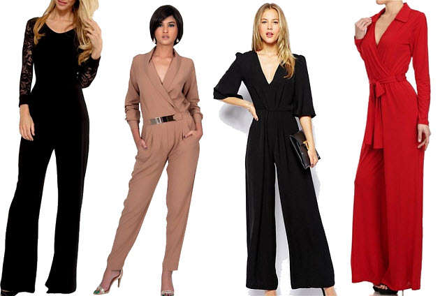 Dressy jumpsuits with sleeves